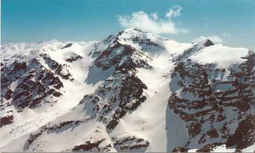 Snow on the Montana Mountains