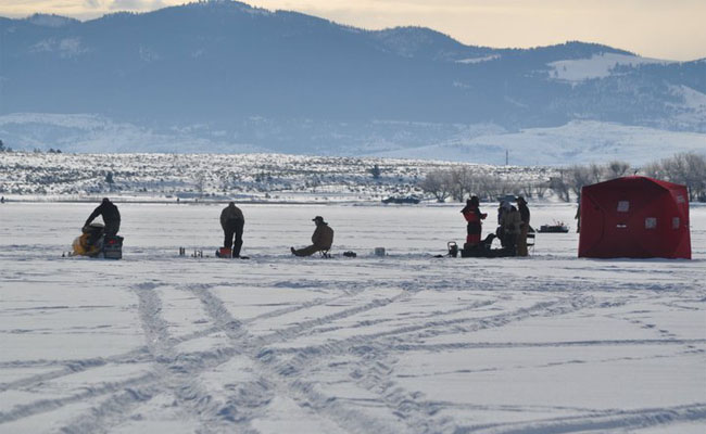 Helena area reservoirs ice fishing report 1 30 2012 for Ice fishing report