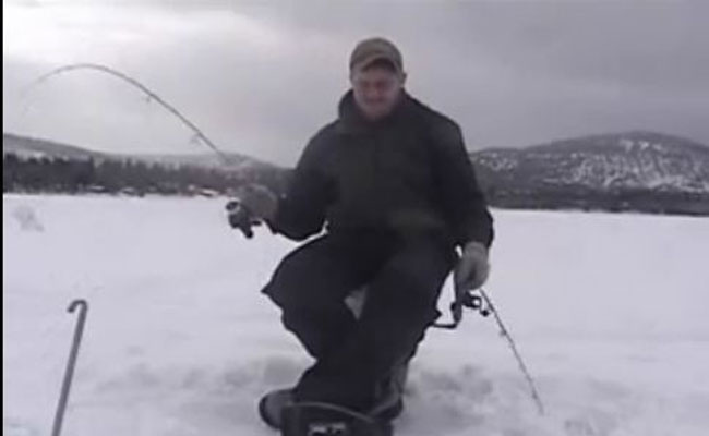 Ice Fish Baby Funny Ice Fishing Video Montana Hunting