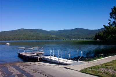 Lake Mary Ronan in blue tones