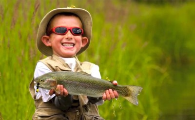 fly fishing kid
