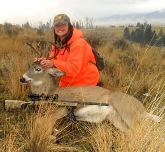 Whitetail deer montana hunting and fishing