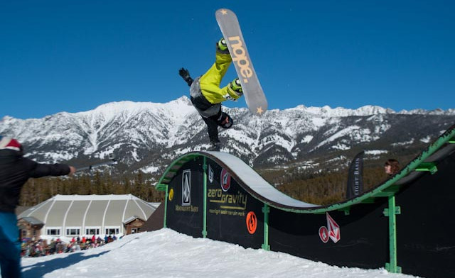 how to hit rails on skis