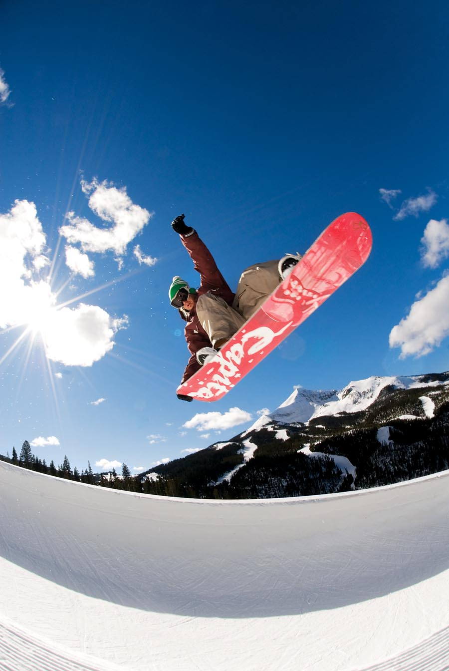Shane Staling Riding Big Sky Resort, Montana