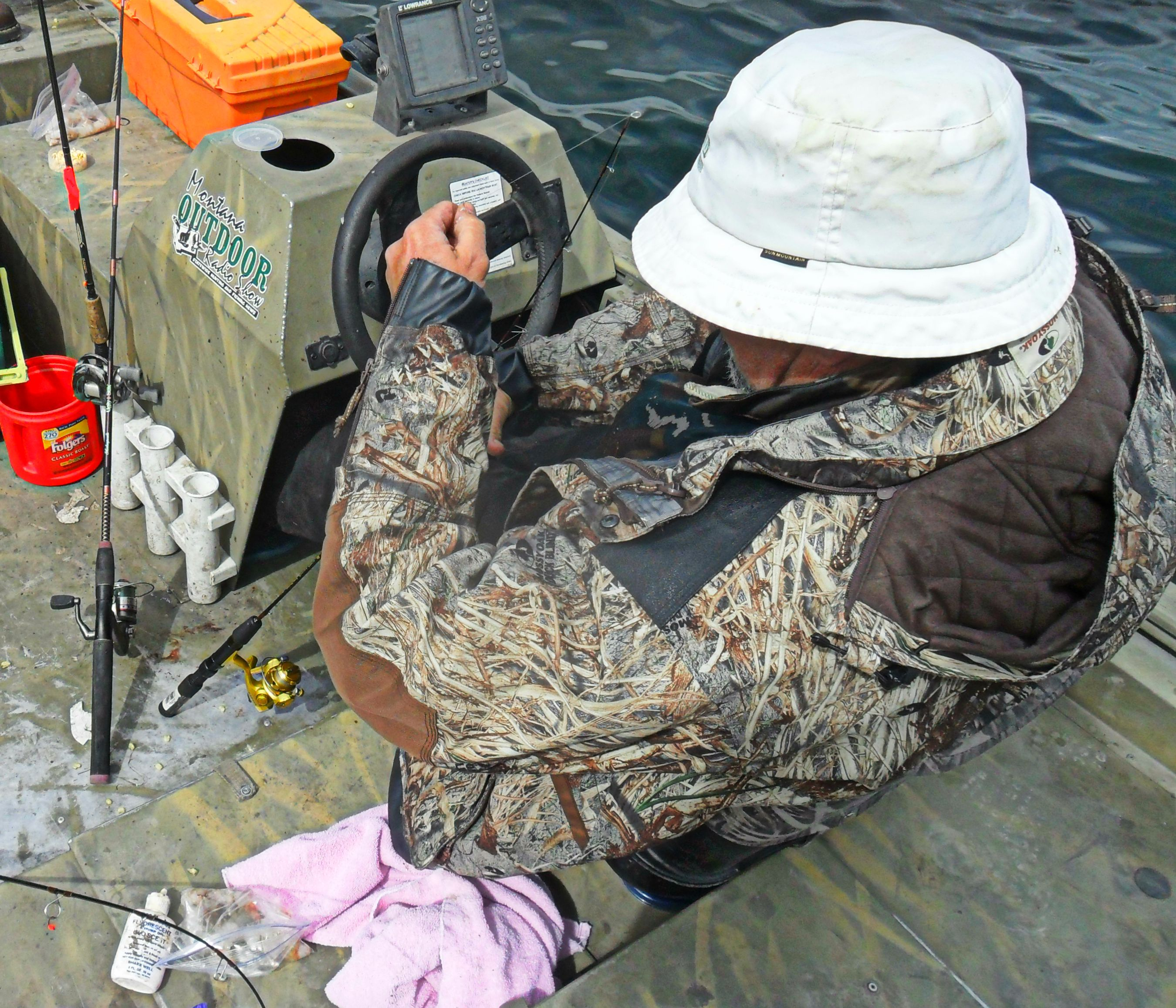 The Captain was trying to figure out what Jason was doing to catch those salmon!