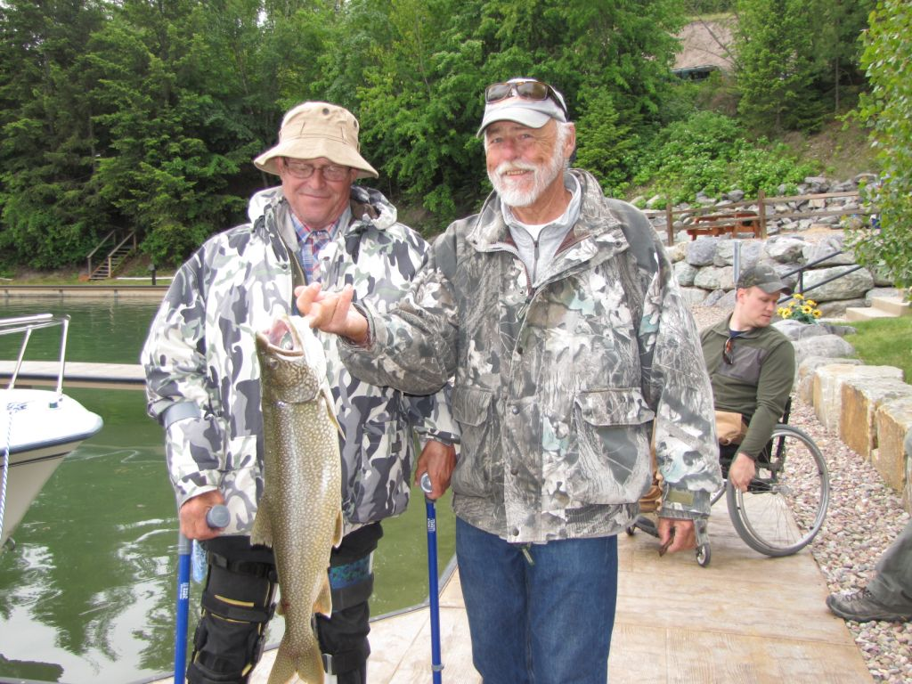 Anglers Catch Big Lake Trout At Fishing Without Barriers