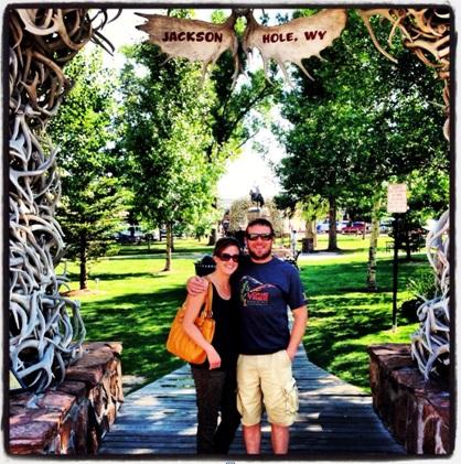Kate and I at Jackson Hole…Happy Anniversary Wife!!