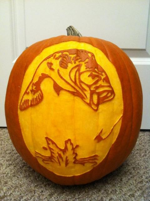 Best hunting and fishing themed jack o lanterns montana