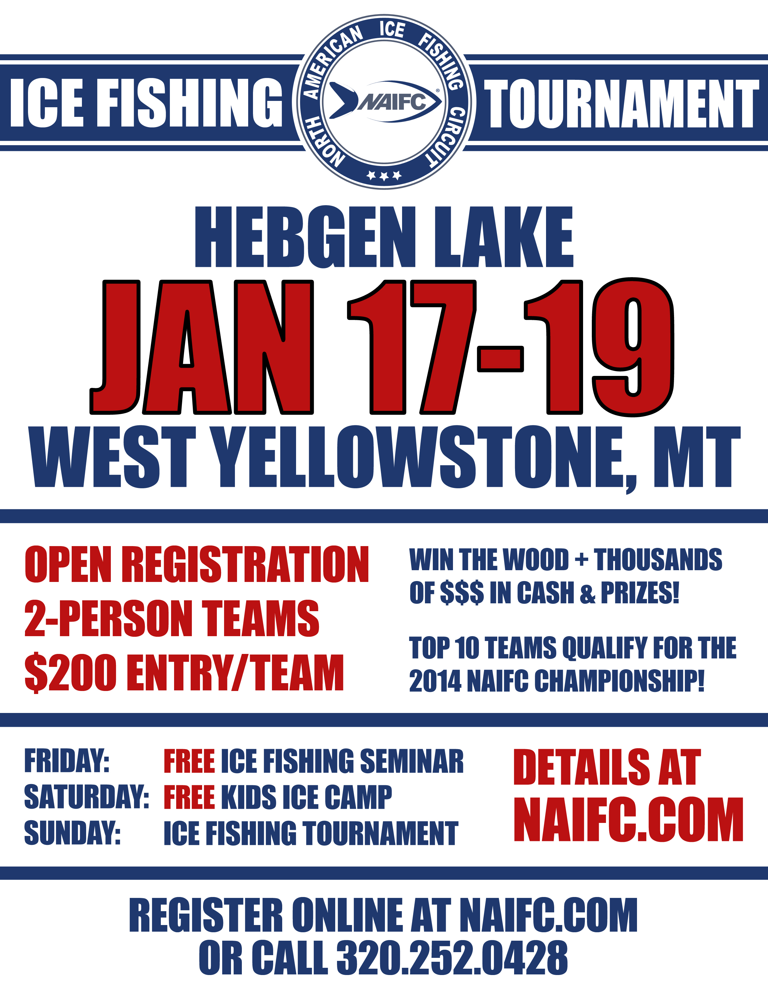 2014 NAIFC Tourney Flyer - Hebgen MT