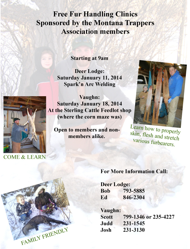 Combined Fur handling clinic flier 2014