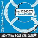 All motorboats, sailboats, and personal watercraft that are numbered must display two validation decals, one on each side of the boat's bow behind the boat's number.