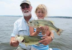 Grandpa Winters and Julia Ketner with a pair of Kentucky Lake largemouth bass. - See more at: http://www.thefishingwire.com/story/325443#sthash.pOF9fBPu.dpuf