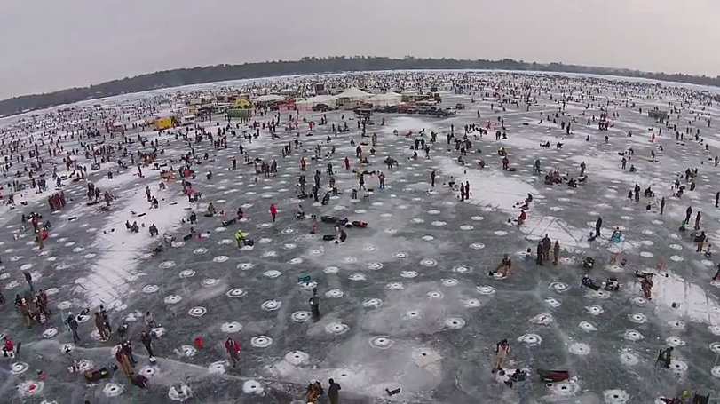 The largest charitable ice fishing contest in the world for Ice fishing tournaments mn