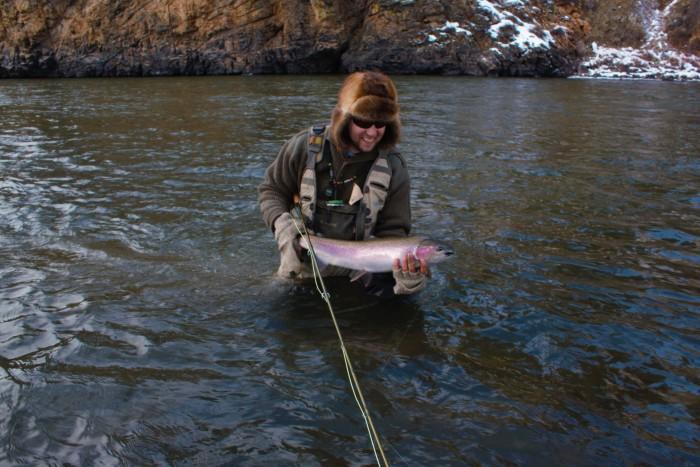 Idaho winter steelhead north fork salmon river pics for Salmon fishing in idaho