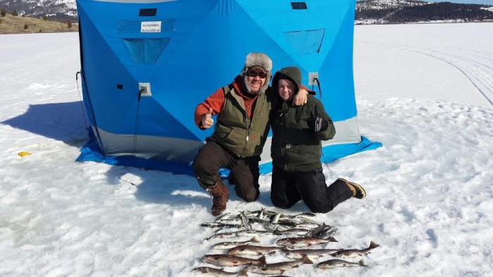Georgetown lake trout and salmon success montana for Lake georgetown fishing