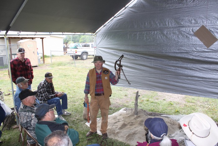 Bob Sheppard giving a wolf trapping demo photo 1