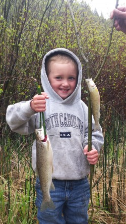 KJ happy with opening day catch