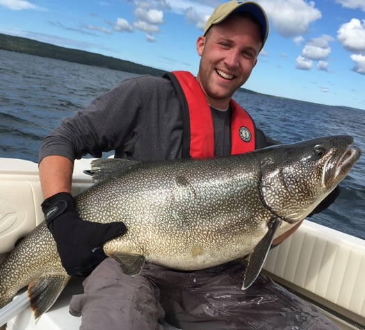 45 pound lake trout caught in lake superior montana for Fish in lake superior