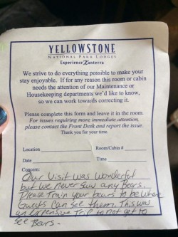 yellowstone note