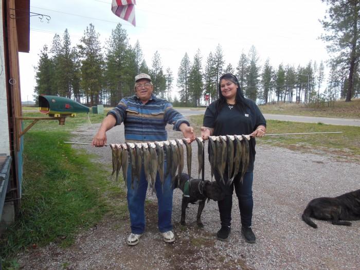 Aneedra and Dick fish picture