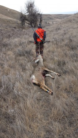 Kip dragging first buck