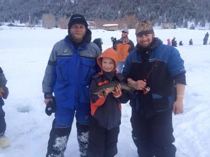 Hebgen lake naifc ice fishing tourney qualifier january for Hebgen lake fishing report