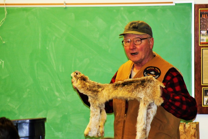 Ed Hebbe III teaching trappers Education in Montana Walrath 2016