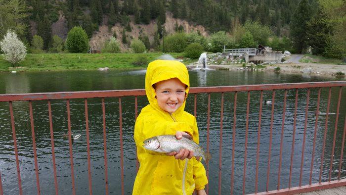 Kaden with fish