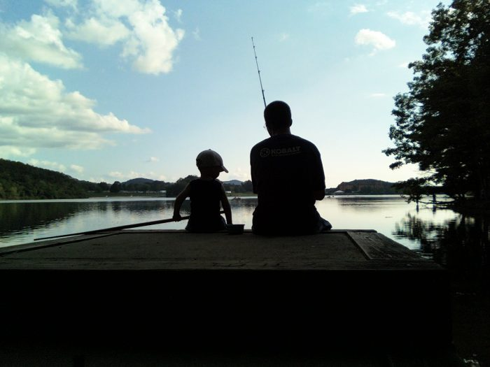 free fishing father son