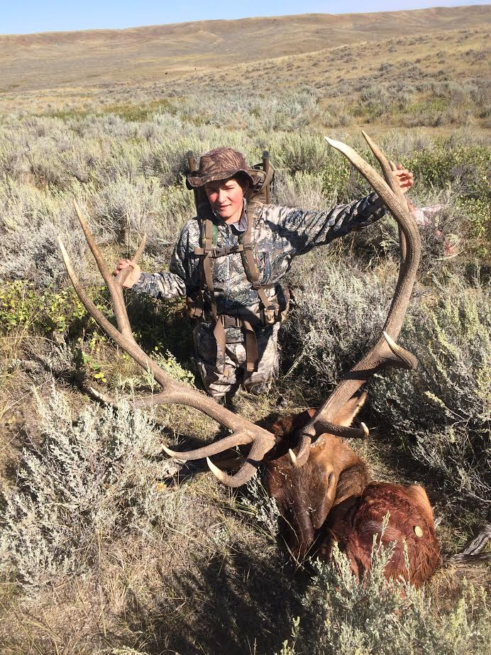 Zach with his bull