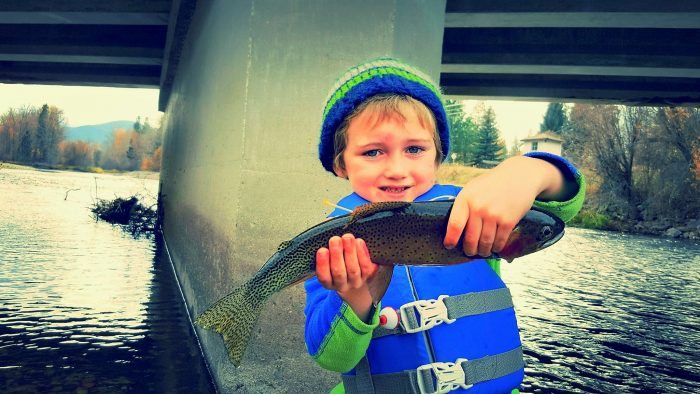 October Trout with Kids