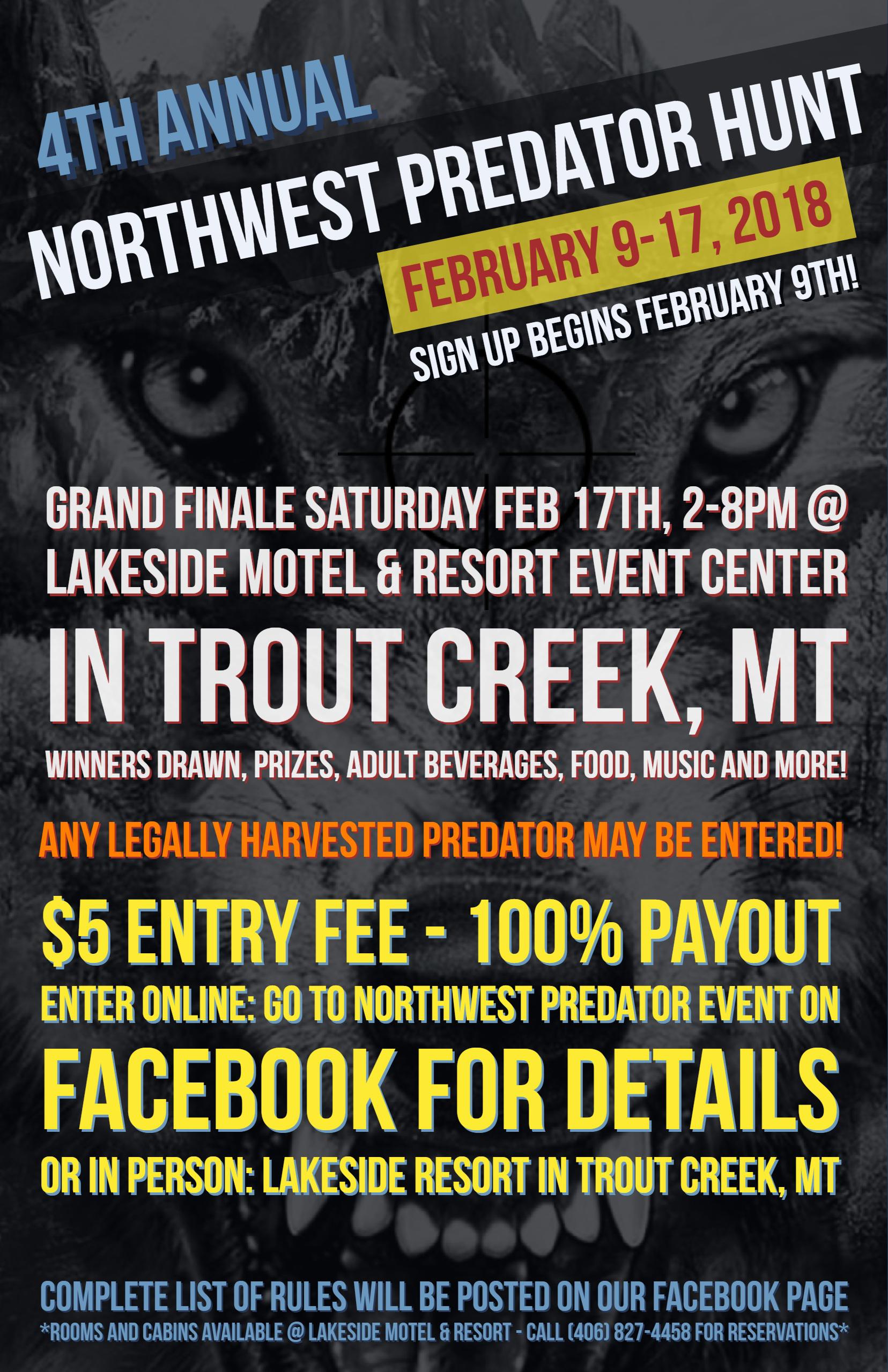 4th Annual NW Predator Hunt in February! | Montana Hunting
