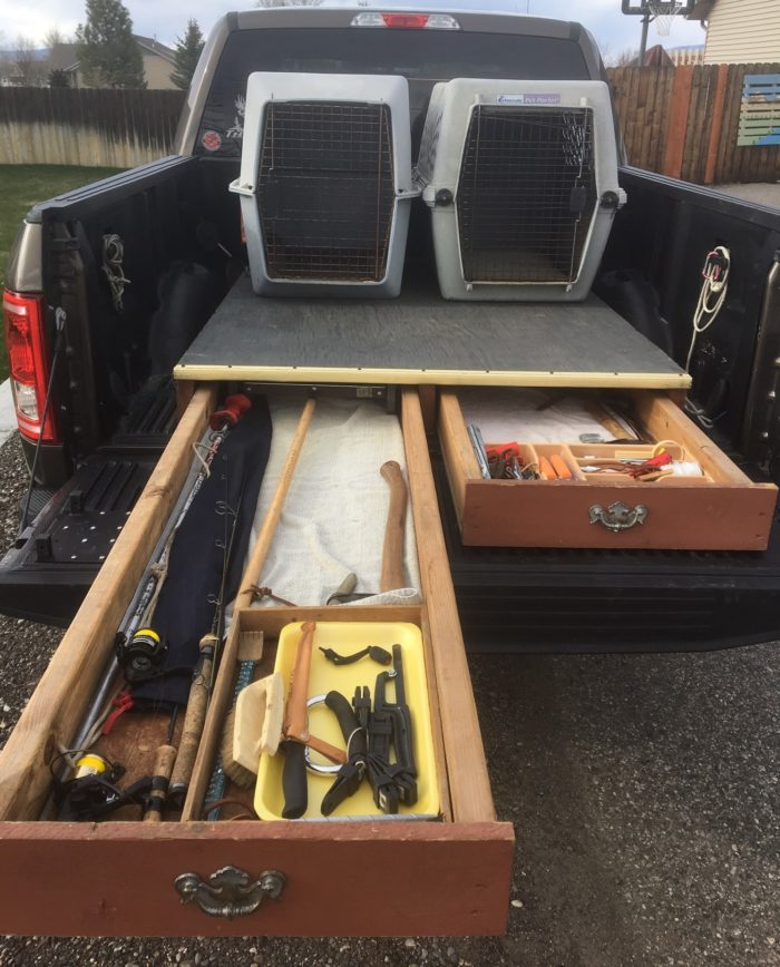 Diy Truck Drawers Montana Hunting And Fishing